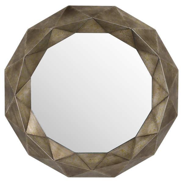 Geometric Bronze Wall Mirror