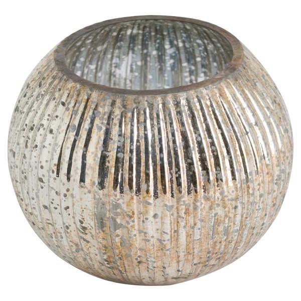 Round Tea Light Holder In Antique Bronze Finish