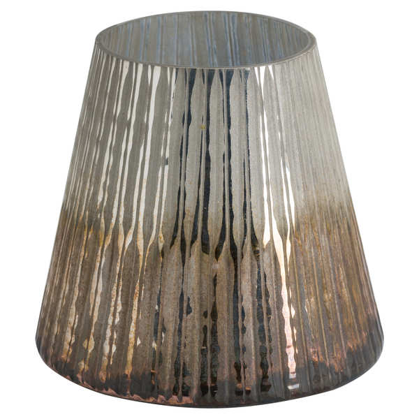 Grey And Bronze Ombre Large Conical Candle Holder