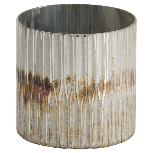 Grey And Bronze Ombre Candle Holder