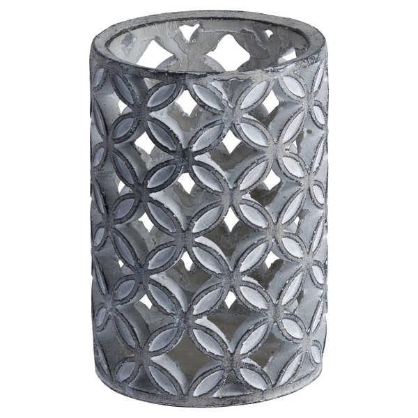 Large Geometric Stone Candle Sconce