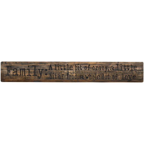 Family Rustic Wooden Message Plaque