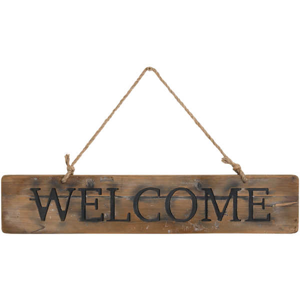 Welcome Rustic Wooden Message Plaque