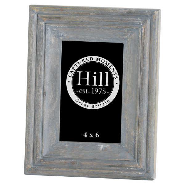 Grey Bevelled 4X6 Wooden Photo Frame