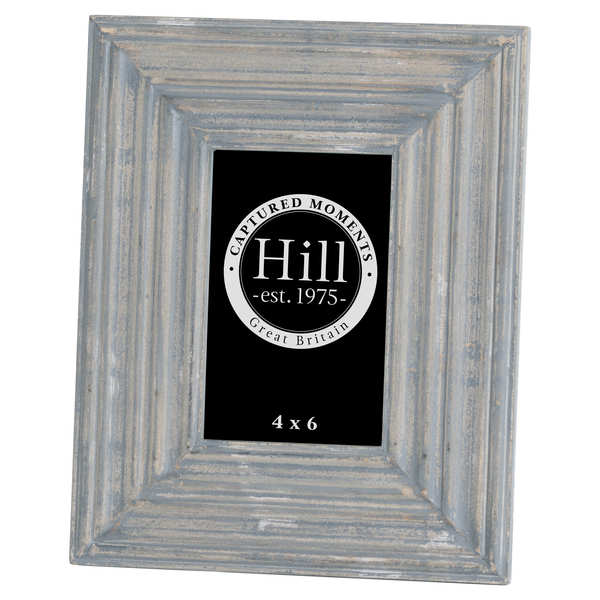 Grey Painted 4x6 Detailed Photo Frame