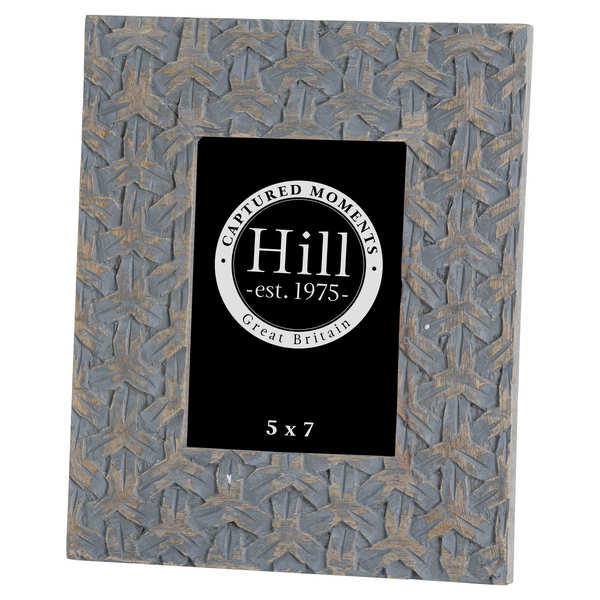 Grey Woven Painted 5x7 Photo Frame