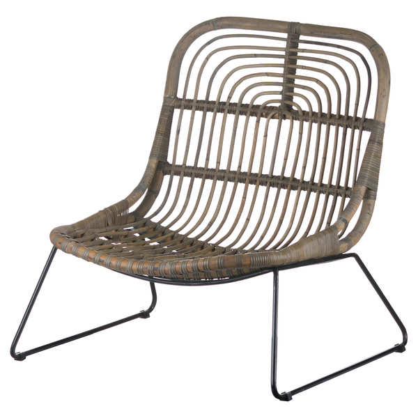 The Bali Collection Full Rattan Low Pod Chair