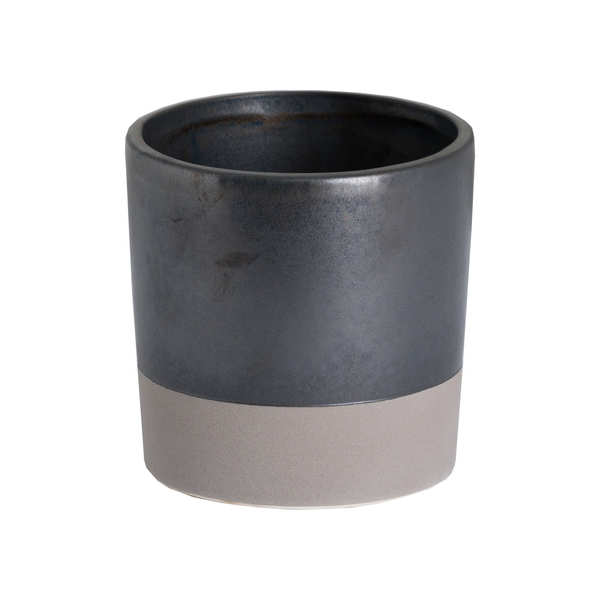 Metallic Grey Ceramic Planter