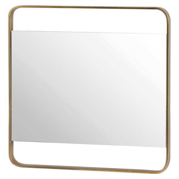 Retro Square Framed Bronze Mirror