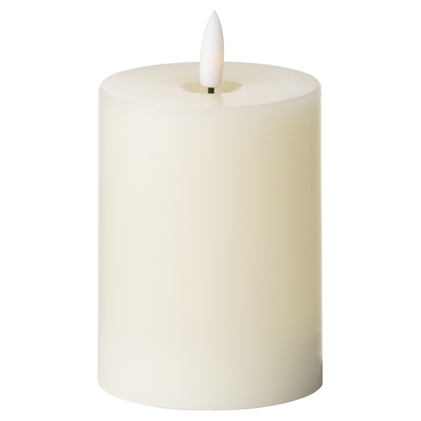 Luxe Collection Natural Glow 3 x 4 LED Ivory Candle
