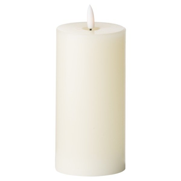 Luxe Collection Natural Glow 3 x 6 LED Ivory Candle