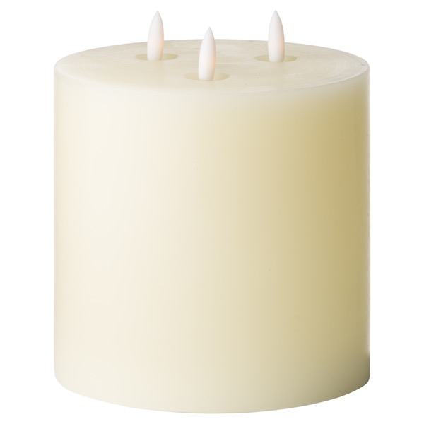 Luxe Collection Natural Glow 6 x 6 LED Ivory Candle