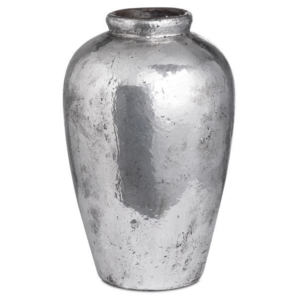 Tall Metallic Ceramic Vase