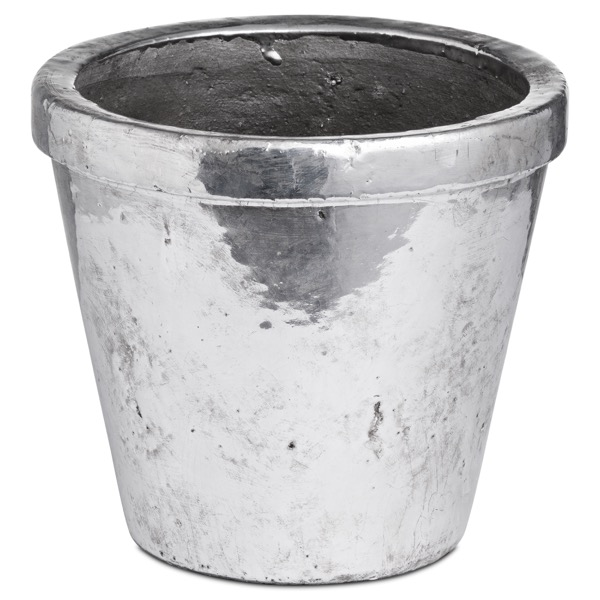 Metallic Ceramic Medium Rimmed Plant Pot