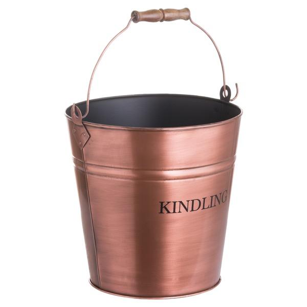 Copper Finish Kindling Bucket