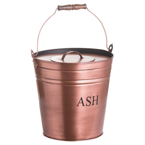 Ash Bucket In Copper Finish