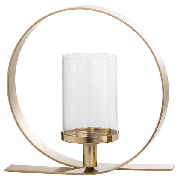 Gold Loop Design Candle Holder