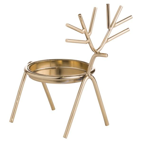 Gold Stick Reindeer Candle Holder
