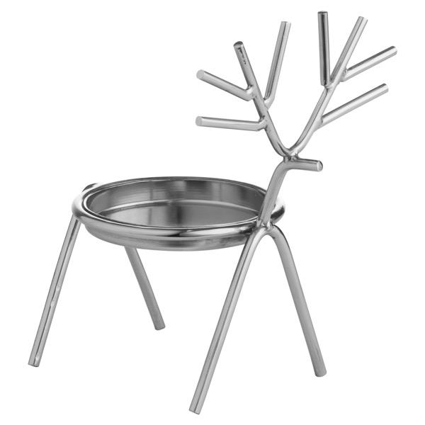Silver Stick Reindeer Candle Holder