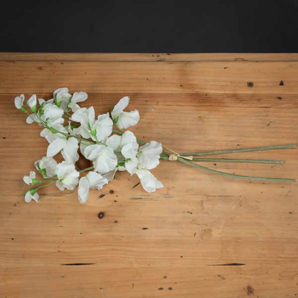 White Sweetpea Bouquet