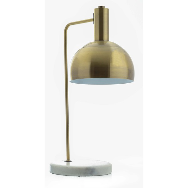 Marble And Brass Industrial Adjustable Desk Lamp