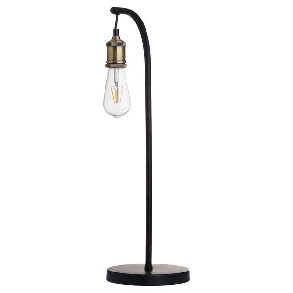 Industrial Black And Brass Desk Lamp Inc Bulb