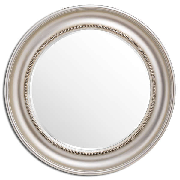 Detailed Circluar Champagne Wall Mirror