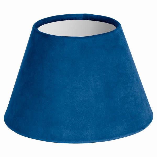 Small Sea Blue Velvet Lampshade