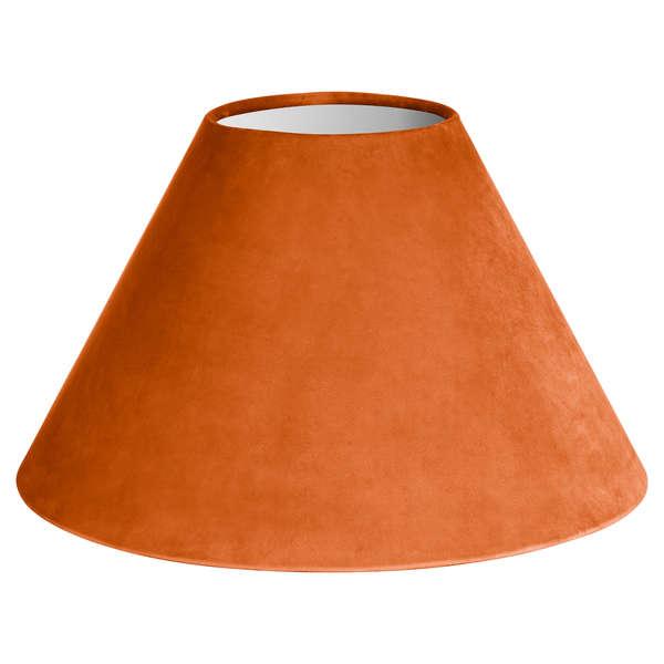 Large Orange Velvet Lampshade