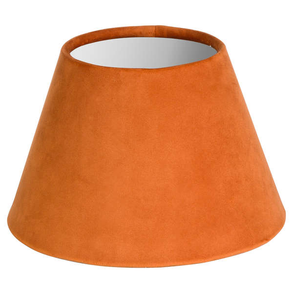 Small Orange Velvet Lampshade