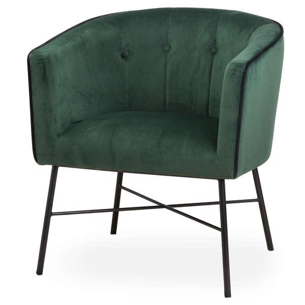 Emerald Green Velvet Urban Tub Chair