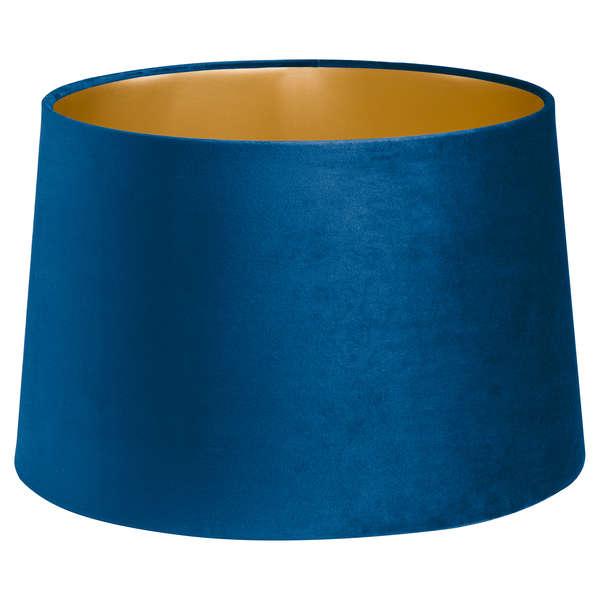 Navy Blue Velvet Lamp And Ceiling Shade