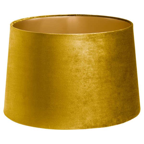 Mustard Velvet Lamp And Ceiling Shade