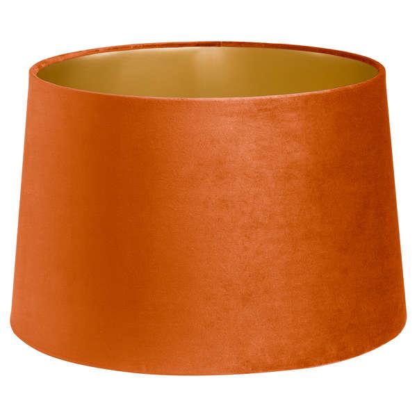 Burnt Orange Velvet Lamp And Ceiling Shade