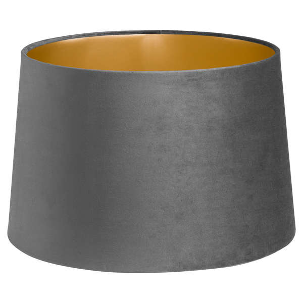 Grey Velvet Lamp And Ceiling Shade