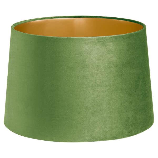 Artichoke Green Velvet Lamp And Ceiling Shade