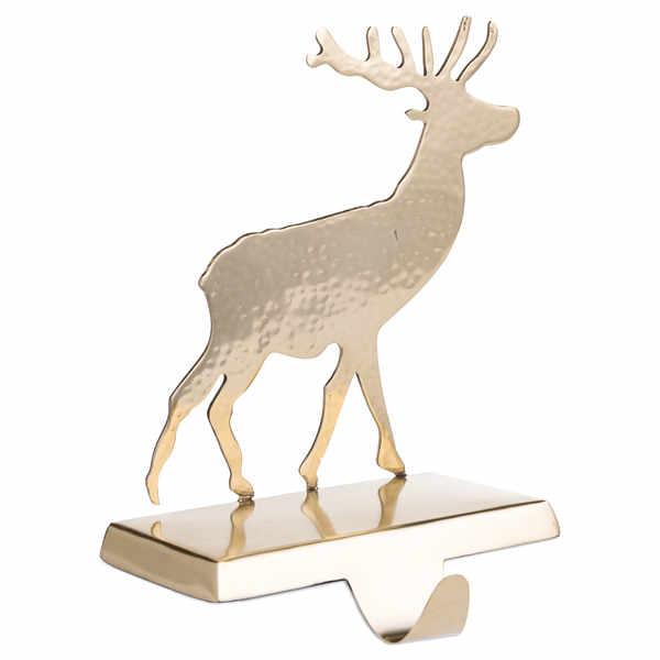Brass Stag Stocking Holder