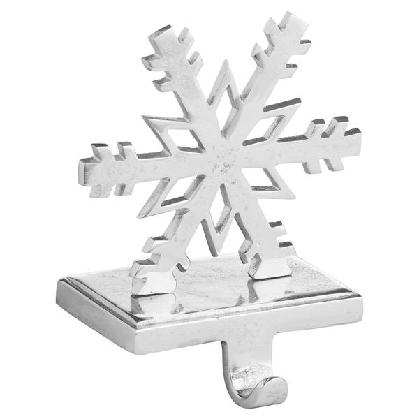 Snowflake Nickel Stocking Holder