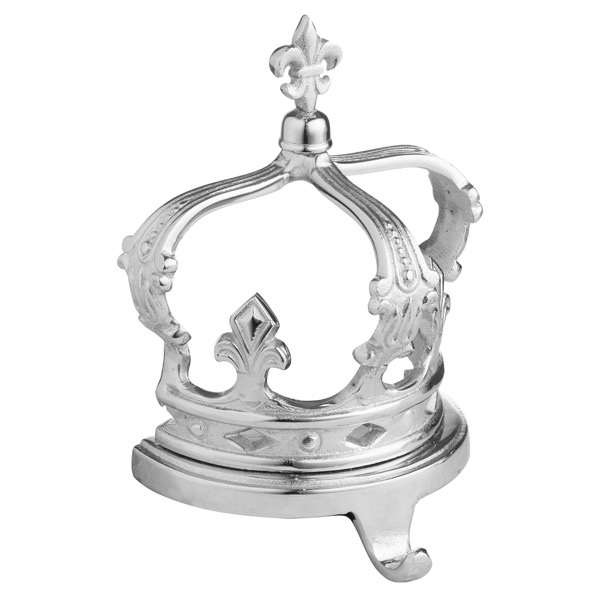 The Queens Crown Nickel Stocking Holder