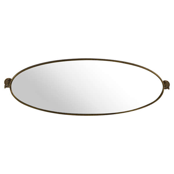 Antique Bronze Oval Swivel Wall Mirror