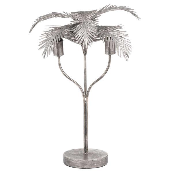 Antique Bronze Palm Leaf Table Lamp
