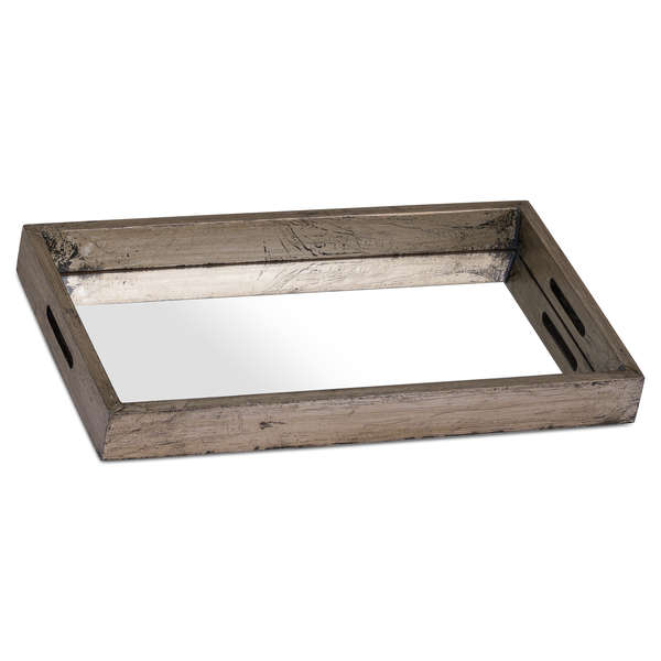 Augustus Mirrored Display Tray With Metallic Detail