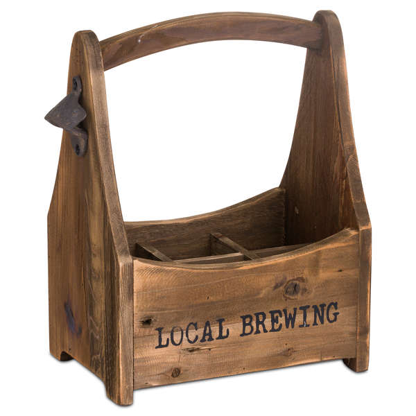Rustic Six Bottle Holder With Opener