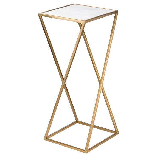 Brass Framed Marble Table