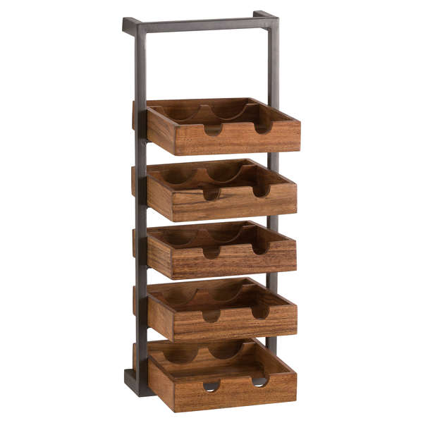Live Edge Collection 10 Bottle Wine Rack