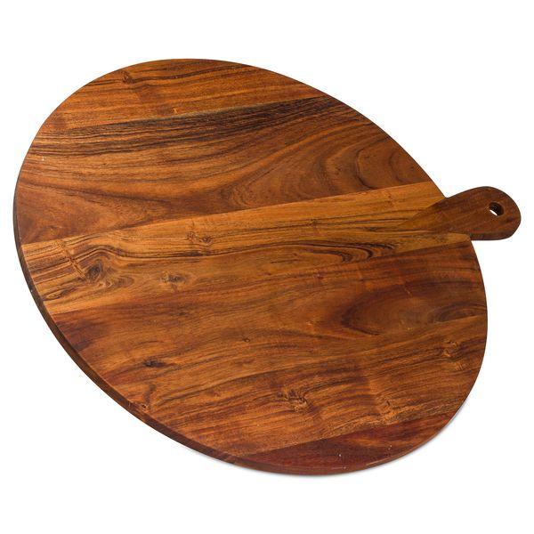Large Round Hardwood Chopping Board