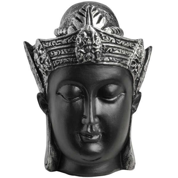 Buddha Head - black and silver