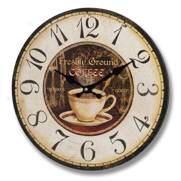 Freshly  Ground  Coffee  Clock