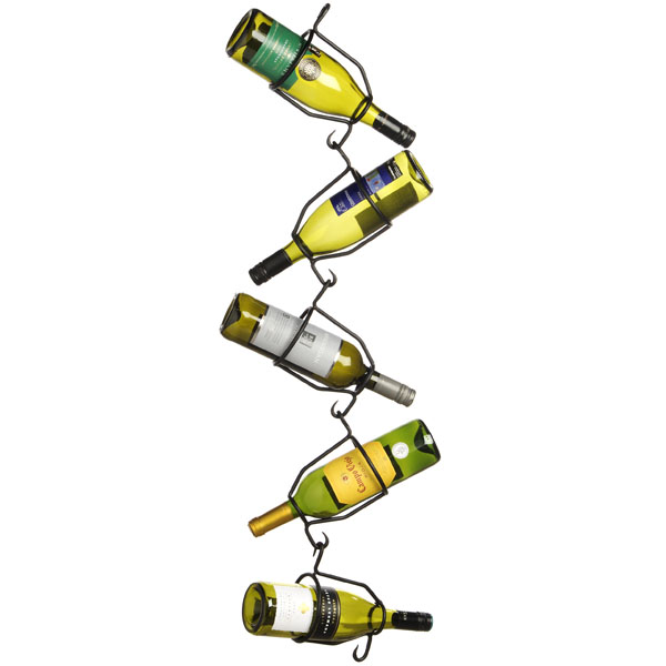 Hanging  Zig  Zag  5  Bottle  Wine  Holder