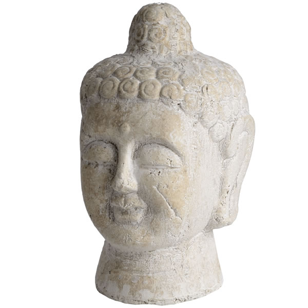 Distressed  Cream  Buddha  Head